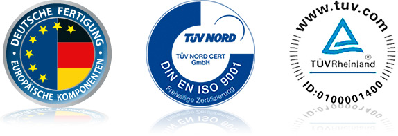 Made in Germany - TÜV Nord - TÜV Rheinland
